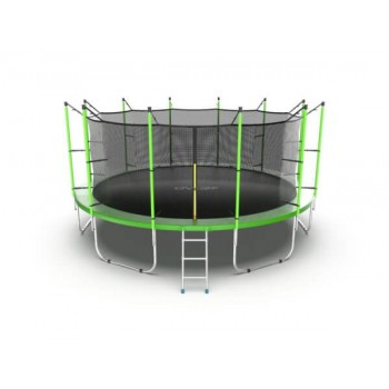 EVO JUMP Internal 16ft (Green) Батут с внутренней сеткой и лестницей, диаметр 16ft (зеленый)