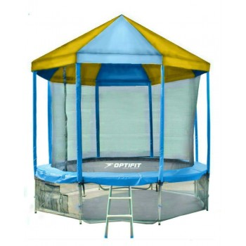 Батут OPTIFIT LIKE BLUE 10 FT с сине-желтой крышей