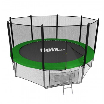 Батут UNIX line 12 ft outside (Green)