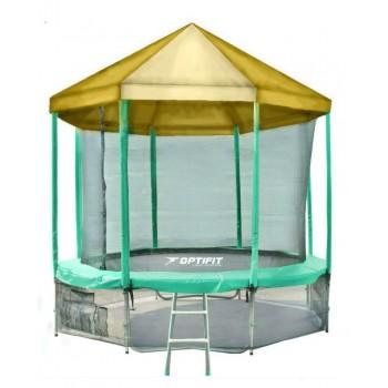 Батут OPTIFIT LIKE GREEN 12 FT с желтой крышей