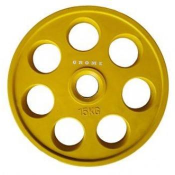 Диск олимпийский цветной Grome WP013-15 кг