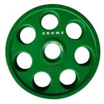 Диск олимпийский цветной Grome WP013-10 кг