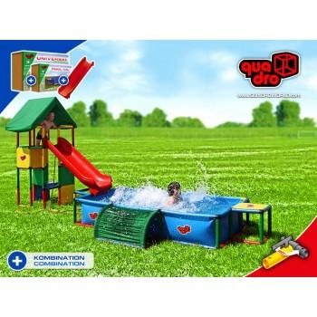 Детский игровой комплекс Quadro Universal + Pool XXL + Integrated Slide