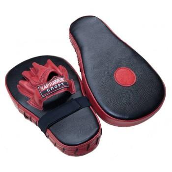 Лапы боксерские удлиненные кожаные Харламов-Спорт