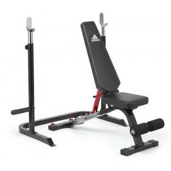 Скамья тренировочная Adidas с рамой для приседаний ADBE-10345